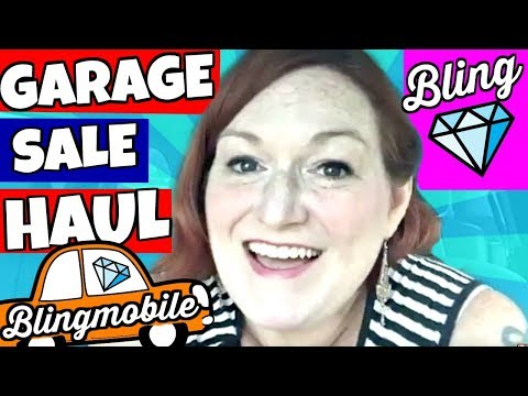 Garage Sale Haul 2018 LIVE From my Car - Estate Sale Vintage Jewelry & LEGO