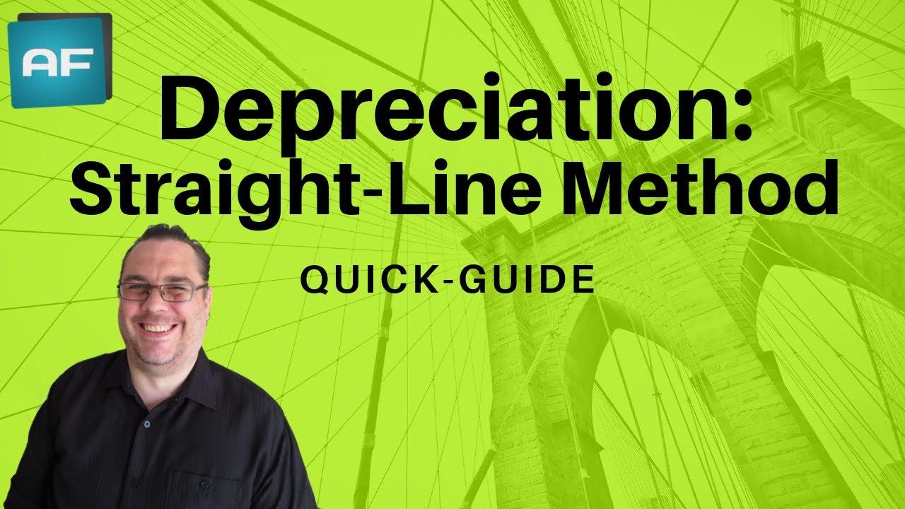 three methods of depreciation