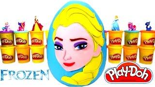 Ovo Surpresa Gigante da Elsa de Frozen em Português Brasil de Massinha Play Doh