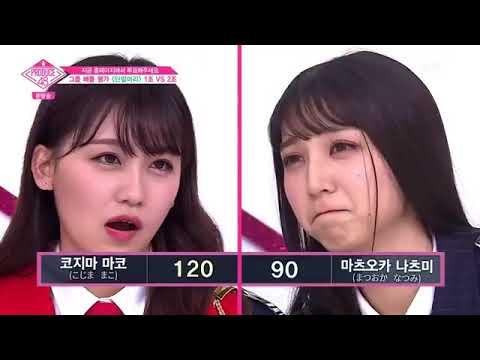 PRODUCE48 Ep 4   Short Hair AOA   Battle Result Mako, Natsumi, Jo Yuri, Ect