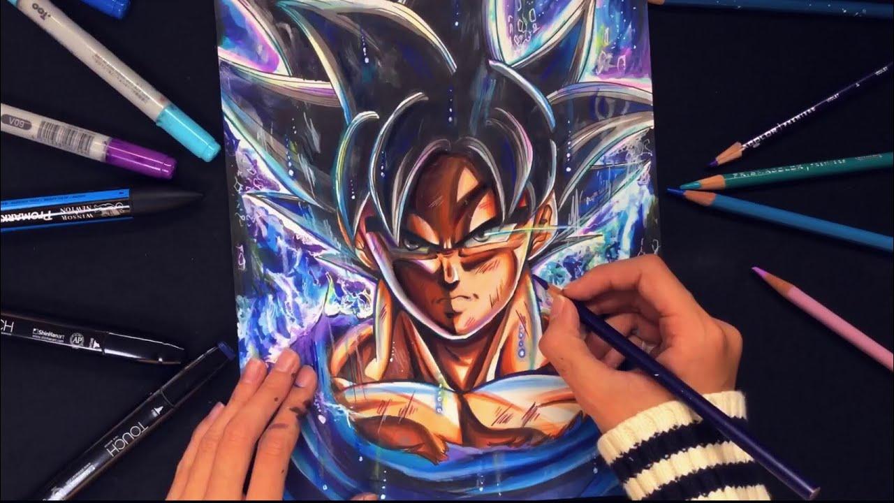 Drawing goku new form ultra instinct youtube - Goku ultra instinct sketch ...