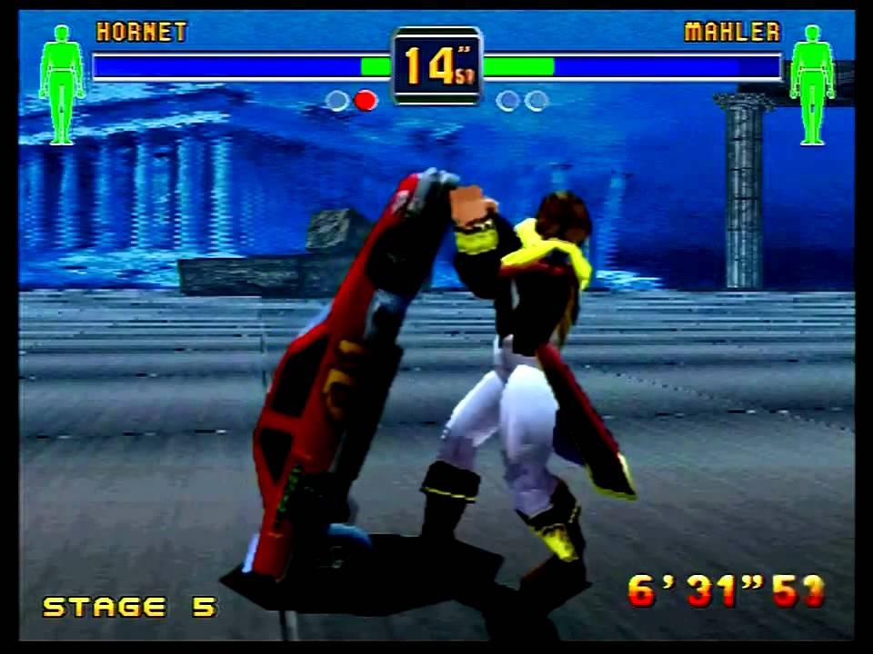 Fighters Megamix (Sega Saturn) 1P Mode as Hornet