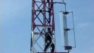 Aero Stellar - Vertical Axis Wind Turbine (VAWT) on Wireless Internet Tower
