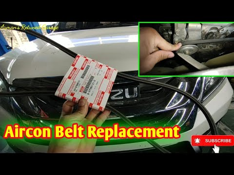 How to Replace Aircon Belt for Isuzu D-max and Isuzu Mux?