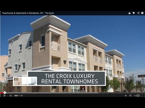 Townhomes & Apartments in Henderson, NV - The Croix - YouTube