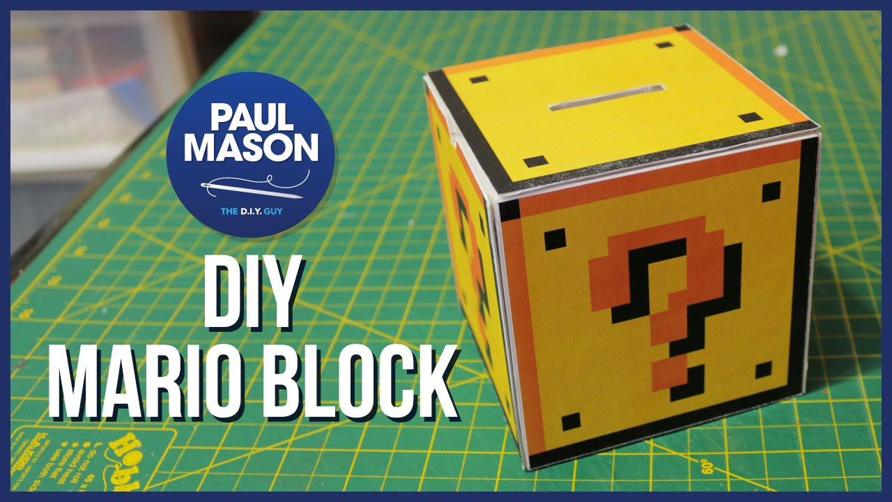 Diy Mario Question Mark Block Youtube