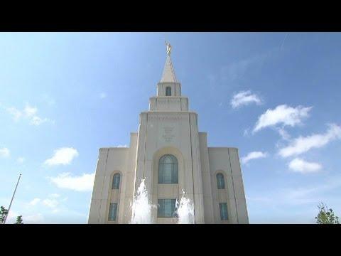 Rare look inside secretive Mormon temple