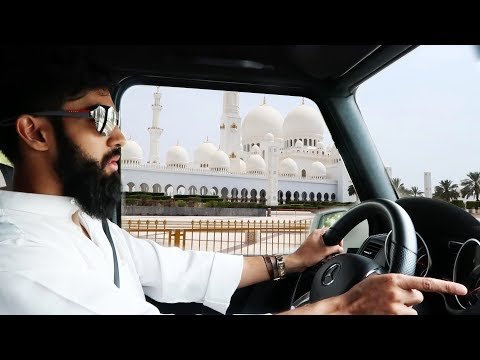 Abu Dhabi Shaykh Zayed Mosque Tour + Huda Beauty for £25 - DUBAI VLOG
