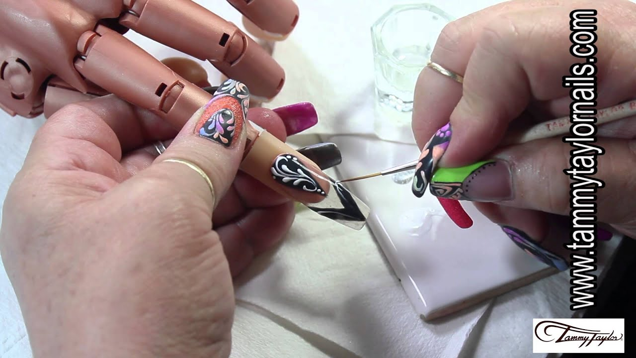 ♡ Tammy Taylor Color Splash Nail Art Technique Gel and Color ...