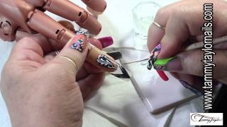 ♡ Tammy Taylor Color Splash Nail Art Technique Gel and Color Acrylic