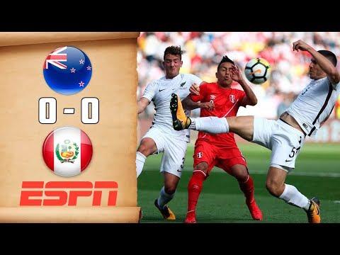 ESPN: Así informo el Empate de Perú contra Nueva Zelanda | Repechaje 2017