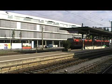 Eisenbahnverkehr im Raum Singen (D)  - Schaffhausen (CH).