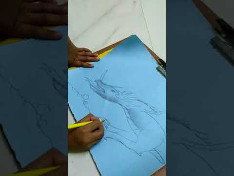 Dragon | Drawing | Child Artist | | Part 2i |