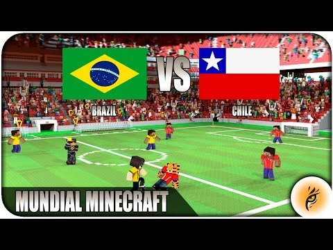 MUNDIAL de FUTBOL MINECRAFT - Brazil VS Chile - 8º final