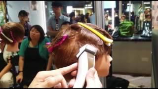 女士動感短髮 (3) 電剪剷青技巧
