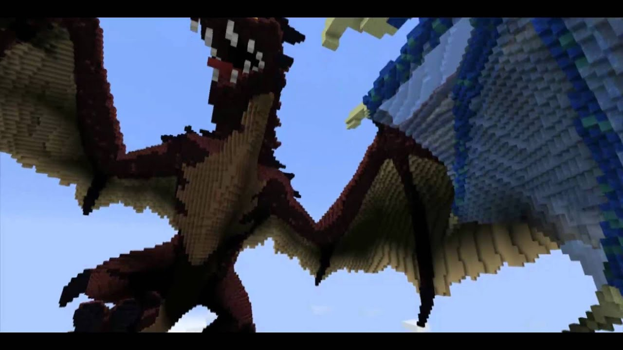 Dark Knight 3d Wallpaper Dragons Merceron Fire And Perinthus Ice In Minecraft