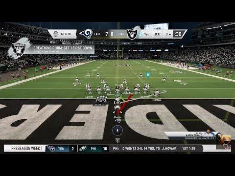 MADDEN NFL 20 LA RAMS Vs RAIDERS , DALLAS COWBOYS Vs 49ERS PRE-SEASON LIVE STREAM