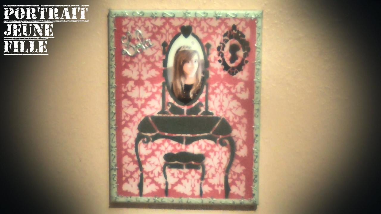Extrêmement Idée tableau avec transfert d'image N° 12: Portrait jeune fille  XP93