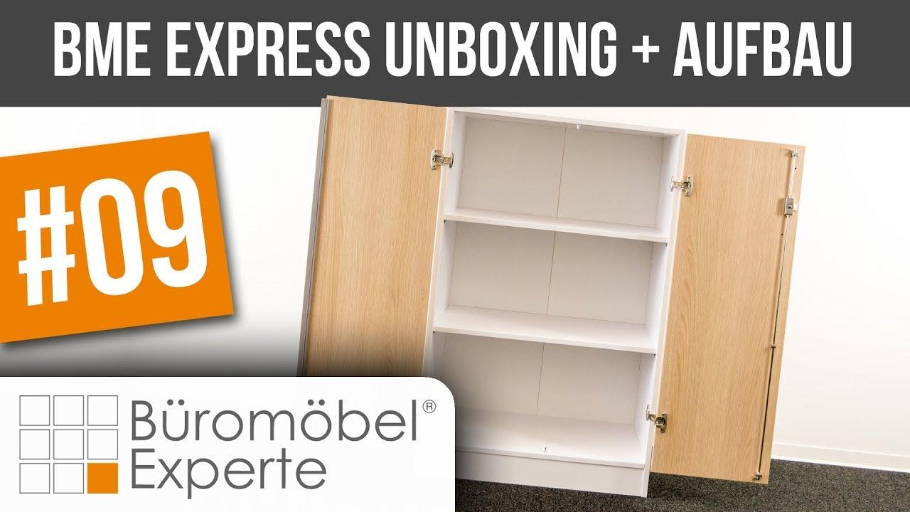 Flügeltürenschrank BME express   Unboxing + Aufbau   Büromöbel ...