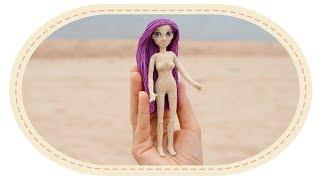 Как соединить ноги куклы при лицевом вязании. How to join doll legs while crochet right side out.