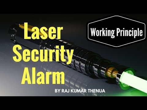 How does a laser security system circuit works? (Hindi / Urdu)