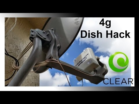Satellite Dish Hack for Clear Sprint Internet Speed Signal Boost