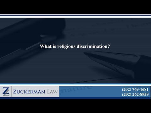 What is religious discrimination?