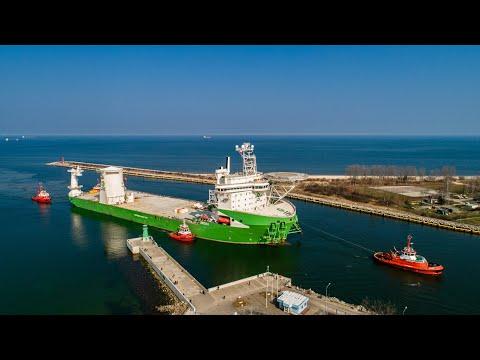 Orion I  - statek z najpotężniejszym na świecie dźwigiem offshore wpłynął do Portu Gdańsk