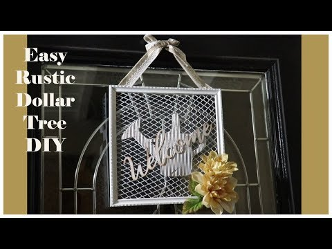 Dollar Tree Farmhouse DIY Welcome Sign Door Hanger