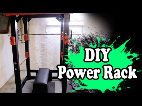 Power rack selber bauen  DIY Home Gym Power Rack selber bauen - YouTube