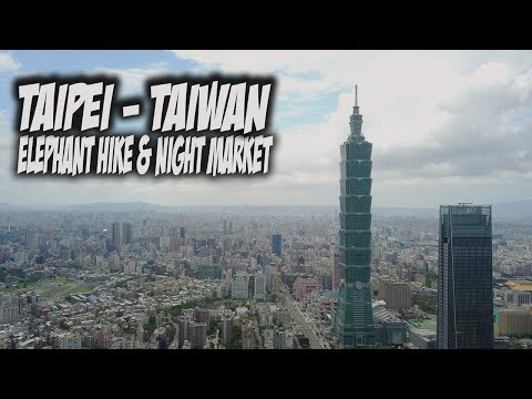 My first time in Taipei - city skyline, Elephant Mountain Hike and Night Market | Travel Vlog #60