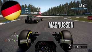 25% RACE (Kevin Magnussen) F1 2014 Gameplay-Grand Germany