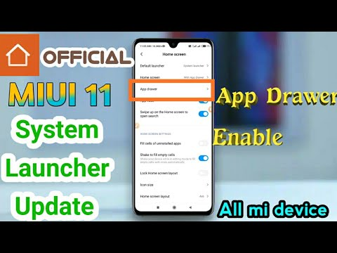 MiUi 11 System Launcher Update 📱 | Enable App Drawer All Mi Devices | Official Update | TECH2TAMIL