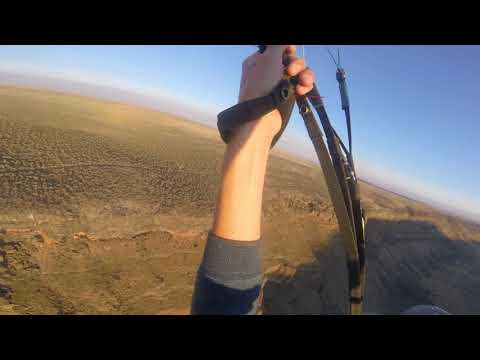 Super scenic Paragliding shots from Swan Falls Dam