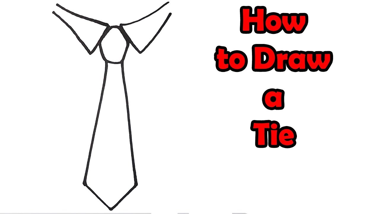 How to Draw a Tie - VERY EASY - FOR KIDS - YouTube