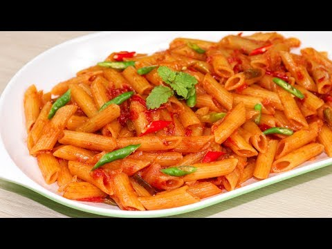 ঘরোয়া উপকরনে মজাদার পাস্তা রান্নার রেসিপি/Pasta Recipe Bangla/Pasta Recipes Veg/Pasta In Red Sauce