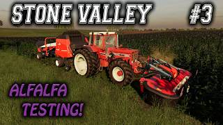 STONE VALLEY #3 / ALFALFA TESTING / Farming Simulator 19 PS4 Let's Play FS19.