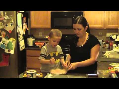 Making Chocolate Peppermint Wafers Holiday Treat