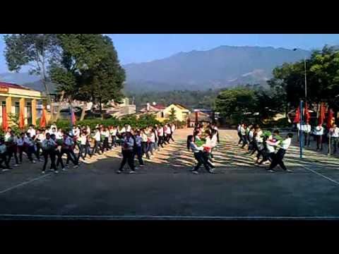 Đồng diễn chào mừng hội khỏe phù đổng THCS Nà Tấu Điện Biên