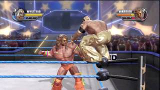 WWE All Stars Demo Gameplay (PS3) - Rey Mysterio vs Ultimate Warrior