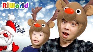 [크리스마스특집] 리원이와 아빠의 메리크리스마스 캐롤 스노우 놀이. Funny app SNOW PLAY. Christmas play