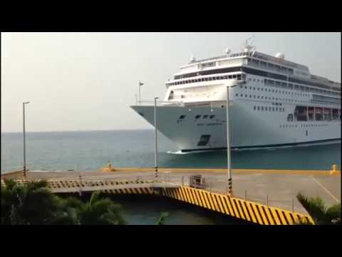 Giant Cruise Ship MSC Armonia Crashes Into Dock In Honduras