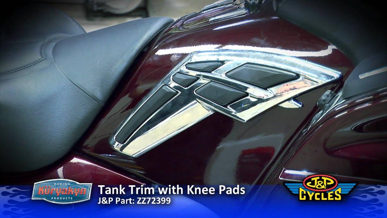 Install Chrome Tank Trim with Knee Pads by Kuryakyn • Honda Goldwing • JPCYCLES.COM - YouTube