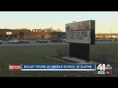 Bullet found at Olathe middle school