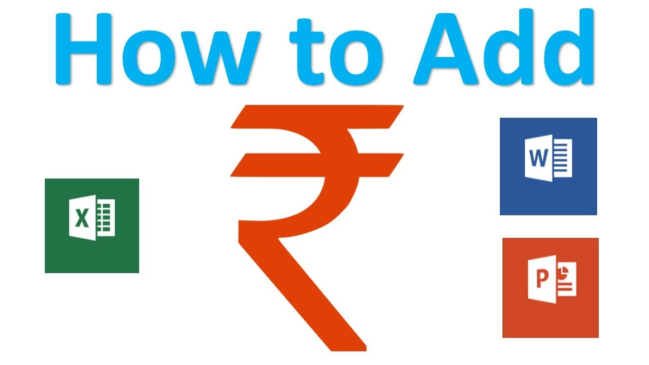 How to type indian rupee symbol in ms excel add rupee symbol how to type indian rupee symbol in ms excel add rupee symbol biocorpaavc