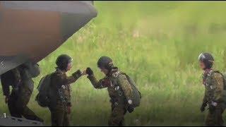 ヘリコプターフェスティバルin館山2017 【落下傘降下展示】CH-47 チヌー...