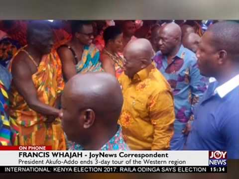 President Akufo-Addo ends 3-day tour of Western Region