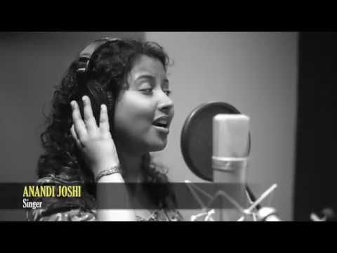 new song recording video anandi joshi nice voice