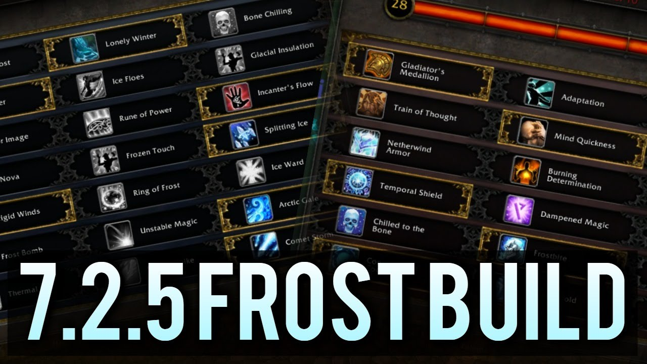 Best Frost Mage Spec 7 2 5 Legion Pvp Youtube