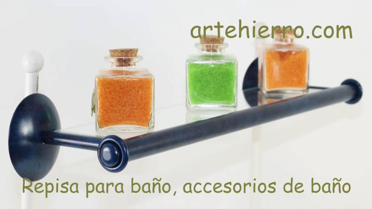 Repisa para ba o accesorios de ba o ideas para decorar tu - Accesorios cuarto de bano ...